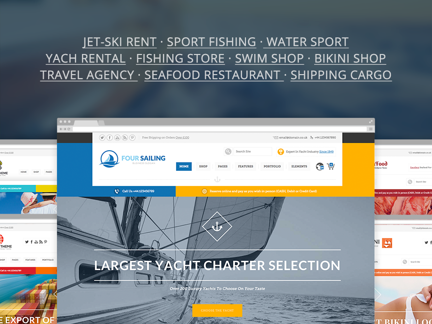 456Sailing - eCommerce & Corporate Theme